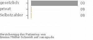 5% gesetzlich versichert,0% privat versichert,0% Selbstzahler
