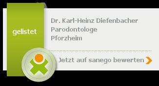 Dr. med. dent. Karl-Heinz Diefenbacher, von sanego empfohlen