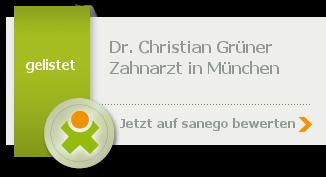 Dr. med. dent. Christian Grüner, von sanego empfohlen