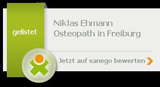 Osteopathie Freiburg Niklas Ehmann, von sanego empfohlen