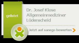 Siegel von Dr. Josef Klose