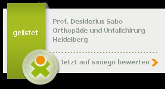 Siegel von Prof. Desiderius Sabo