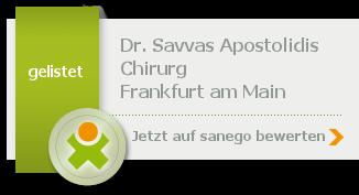 Dr. med. Savvas Apostolidis, von sanego empfohlen