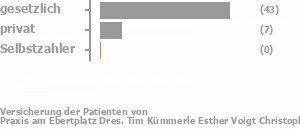82% gesetzlich versichert,16% privat versichert,0% Selbstzahler Bild