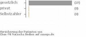 87% gesetzlich versichert,0% privat versichert,0% Selbstzahler Bild