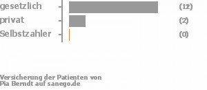 80% gesetzlich versichert,13% privat versichert,0% Selbstzahler Bild