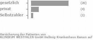 84% gesetzlich versichert,10% privat versichert,6% Selbstzahler Bild