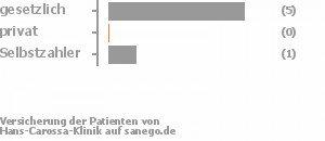 67% gesetzlich versichert,11% privat versichert,11% Selbstzahler Bild