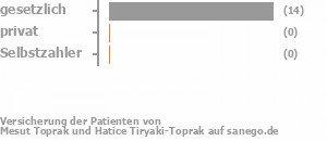 93% gesetzlich versichert,0% privat versichert,0% Selbstzahler Bild