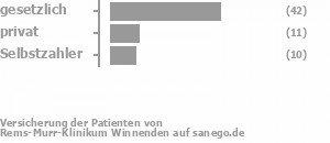 58% gesetzlich versichert,17% privat versichert,15% Selbstzahler Bild