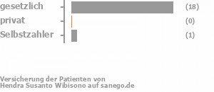 94% gesetzlich versichert,0% privat versichert,6% Selbstzahler Bild