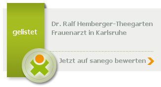 Siegel von Dr. med. Ralf Hemberger-Theegarten