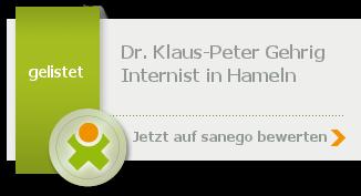 Siegel von Dr. med. Klaus-Peter Gehrig