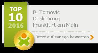 Siegel von Zahnarzt P. Tomovic