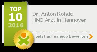 Siegel von Dr. med. Anton Rohde