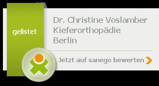 Siegel von Dr. med. dent. Christine Voslamber