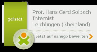 Siegel von Prof. Dr. med. Hans Gerd Solbach