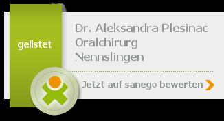 Siegel von Dr. med. dent. Aleksandra Plesinac