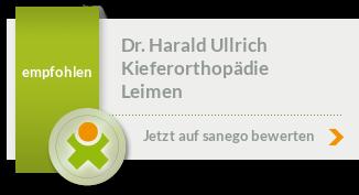 Dr. med. dent. Harald Ullrich, von sanego empfohlen