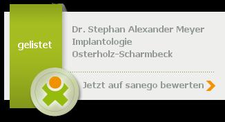 Dr. med. dent. Stephan Alexander Meyer,  von sanego empfohlen