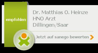 Dr. med. Matthias O. Heinze, von sanego empfohlen