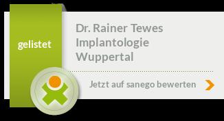 Siegel von Dr. med. dent. Rainer Tewes