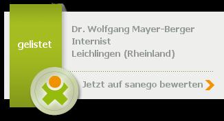 Siegel von Dr. med. Wolfgang Mayer-Berger