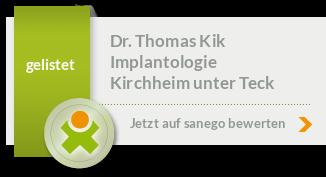 Siegel von Dr. med. dent. Thomas Kik