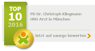 Priv. Doz. Dr. med. Christoph Klingmann, TOP 10   - von sanego empfohlen