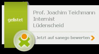 Siegel von Prof. Dr. med. Joachim Teichmann