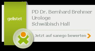 Siegel von PD Dr. med. Bernhard Brehmer