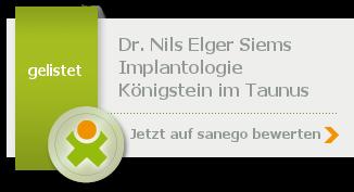 Siegel von Dr. med. dent. Nils Elger Siems