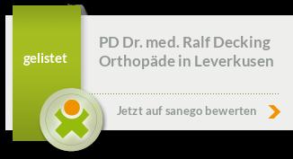 Siegel von PD Dr. med. Ralf Decking
