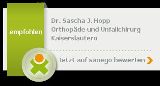 Dr. med. Sascha J. Hopp, von sanego empfohlen
