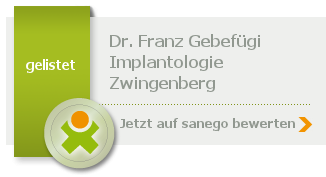 Siegel von Dr. med. dent. Franz Gebefügi