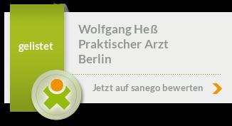 Siegel von Dipl. - Med. Wolfgang Heß