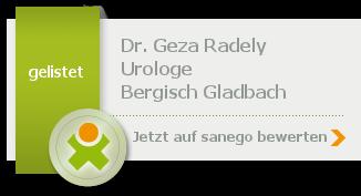 Siegel von Dr. med. Geza Radely