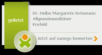 Siegel von Dr. med. Helbe Margarete Notemann