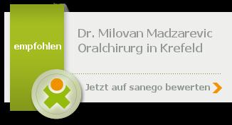 Siegel von Dr. stom. (Univ. Belgrad) Milovan Madzarevic