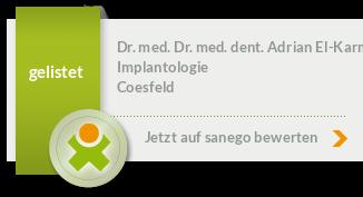 Dr. med. Dr. med. dent. Adrian El-Karmi, von sanego empfohlen