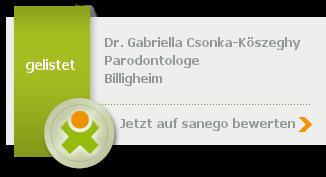 Siegel von Dr. Gabriella Csonka-Köszeghy