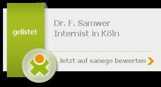 Siegel von Dr. med. F. Samwer