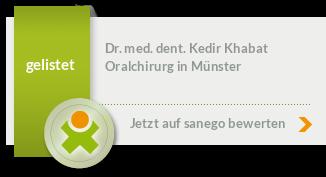Dr. med. dent. Khabat Kedir, M.Sc., von sanego empfohlen