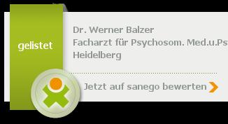 Siegel von Dr. med. Werner Balzer