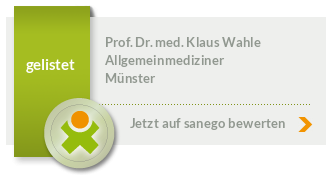 Siegel von Prof. Dr. med. Klaus Wahle