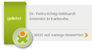 Siegel von Dr. med. Petra König-Gebhardt