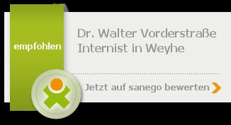 Siegel von Dr. Walter Vorderstraße