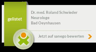 Siegel von Dr. med. Roland Schwieder