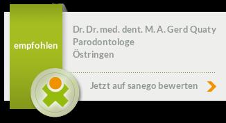 Siegel von Dr. Dr. med. dent. M. A. Dr.phil. Gerd Quaty,M.A.