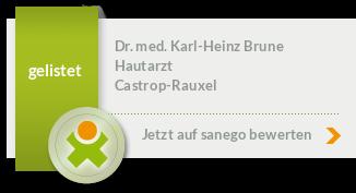 Siegel von Dr. med. Karl-Heinz Brune